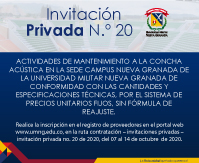 Invitación privada No 20